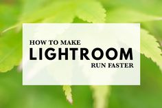 Everybody would like to know how to make Lightroom run faster. These tips will help you configure Lightroom so it runs as fast as possible on your system.