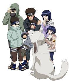 Favorite Team Team 8 (also team Kurenai): Shino Aburame, Kiba Inuzuka and Akamaru (his ninken), and Hinata Hyuga. Led by Kurenai Yuhi. Gaara, Sasuke, Shikamaru, Naruto Art, Naruto Shippuden Anime, Kakashi Hatake, Hinata Hyuga, Naruhina, Sasunaru