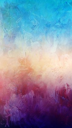 Colorful Blue Purple Paint Texture iPhone 5 Wallpaper