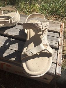 6a587e41094244 Skechers Relaxed Fit Memory Foam Size 7 Women s Two Strap Sport Sandals  Braid