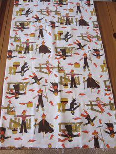 Vintage Halloween Thanksgiving Cotton Fabric Project by jfarmen, $9.99