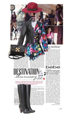 """""""Destination Runway with bebe : Contest Entry"""" by elberethgilthoniel ❤ liked on Polyvore featuring Bebe"""