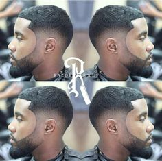 Drop Fade w/Faded Beard Black Boys Haircuts, Black Men Hairstyles, Cool Mens Haircuts, Black Men Beards, Barbers Cut, Fade Haircut, Beard Haircut, Beard Game, Fresh Hair