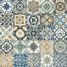 20x20cm Nikea mix pattern tile set