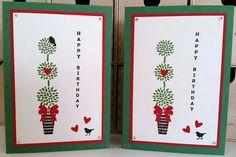 Geburtstagskarte, birthday card, stampin up vertical greetings