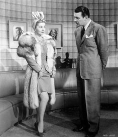 """Joan Fontaine with George Brent in """"The affairs of Susan"""" (1945)"""