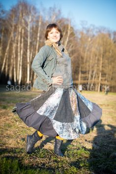 boho skirt by SAGA dress jeans skirt