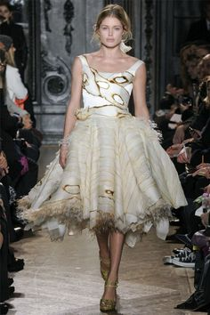 Giles Deacon - frilly embellished dress