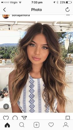 Did you know that brunettes make up the majority of people's hair color? While brunettes might be the most common of the hair colors, brunettes are actually very diverse; Balayage Hair, Ombre Hair, Bayalage, Brown Balayage, Haircolor, Curly Hair Styles, Natural Hair Styles, Long Hair Curls Styles, Brown Hair Colors