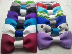 Party Favor Bow Ties (Set of 12 - Assorted)