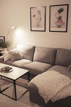 Having small living room can be one of all your problem about decoration home. To solve that, you will create the illusion of a larger space and painting your small living room with bright colors c… Tiny Living Rooms, Ikea Living Room, Apartment Living, Home And Living, Living Room Designs, Ikea Kivik, Ikea Couch, Home And Deco, My New Room