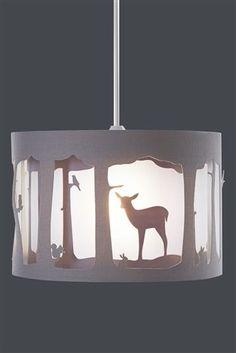 Next Ceiling Light Shades: Buy Grey Lasercut Woodland Shade from the Next UK online shop,Lighting