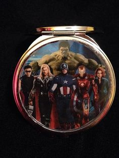 Avengers compact mirror $15 https://www.etsy.com/listing/216397463/comic-characters-compact-mirror-your?ref=shop_home_feat_4