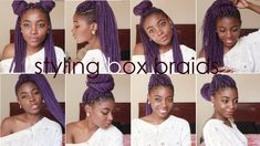 Whattup Lovesssss :) Wondering how to style box braids? I'm giving you all 8 bomb box braids hairstyles you can also use for locs and twists :) Are you feeli. Bob Box Braids Styles, Short Box Braids, Blonde Box Braids, Box Braids Styling, Braid Styles, Curly Hair Styles, Natural Hair Styles, Box Braids Hairstyles, Long Bob Hairstyles
