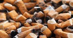 Cigarrillos en cenicero