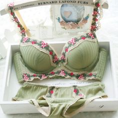 brand sexy full lace floral princess underwear bra set vs push up brassiere with lingerie set cute bra set underwear spring | Sexy Japanese Lingerie