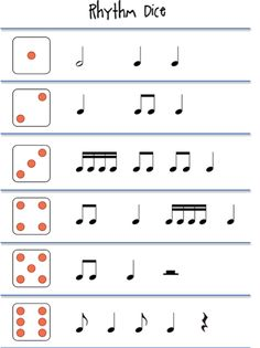 Rhythm games ... could use this to organize a ragtime composition with my 7th graders