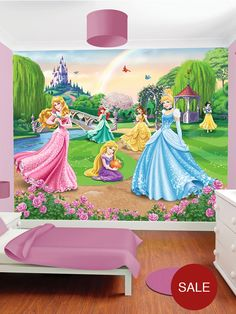 disney wallpaper for bedrooms. disney walltastic princess wall murals | littlewoods.com wallpaper for bedrooms
