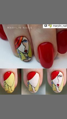 Pop Art Nails, Neon Nail Art, Neon Nails, Picasso Nails, Disney Inspired Nails, Nail Techniques, Plaid Nails, Nail Art Pictures, Japanese Nail Art