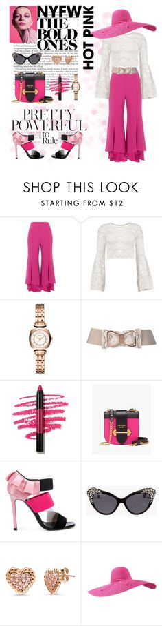 """HOT PINK "" by msgoodgirl92 ❤ liked on Polyvore featuring River Island, Boohoo, Kate Spade, Marc Jacobs, Prada, Emilio Pucci, Dsquared2 and BERRICLE"