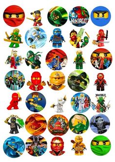 Ninjago 30 x Party Edible Rice Wafer Paper Cup Cake Toppers CUT OUT in Crafts, Cake Decorating | eBay
