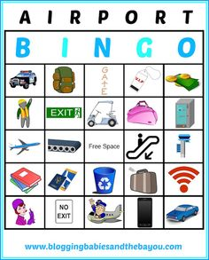 Airport Bingo - Travel Printables for Children
