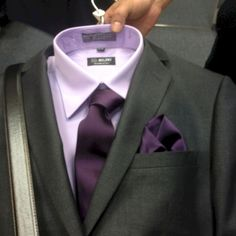 Wedding Suits - Try unique combinations until you discover a couple that suits you the very best. Broadly speaking, darker suits are well suited for the cold months. A tailored suit is well worth investing in if y… White Tuxedo Wedding, Dark Purple Wedding, Plum Wedding, Wedding Men, Wedding Suits, Wedding Groom, Wedding Ideas, Formal Wedding, Wedding Attire