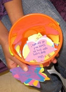 Bucket Filling Lesson, and website has other ideas/resources