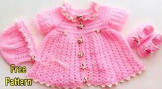 Crochet Baby Dress Free Pattern, Crochet Patterns, Baby Summer Dresses, Girls Dresses, Crochet Hook Sizes, Crochet Hooks, Baby Hats Knitting, Knitted Hats, Pattern Ideas