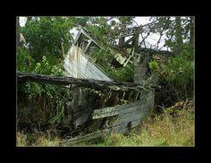 Derelict boat at Bodega Bay CA