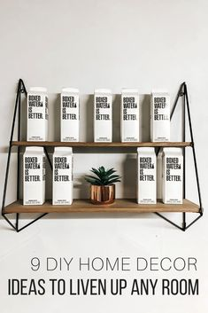 Simple DIY home decor ideas on a budget from The Wardrobe Stylist. Easy and cheap living room, kitchen, bathroom, and bedroom DIY projects for large and small spaces. Modern, vintage, rustic, boho and farmhouse style DIY ideas for your home.#HomeDecor #DIY #DIYIdeas
