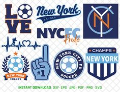 New York City Fc Svg, NY City Soccer, dxf, svg, pdf, jpg, eps Files, Cutting Files, New York Fc clipart, football soccer cliparts, 05-MLS