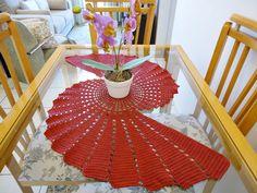 Caminho de Mesa Espiral Elegante Marsala | Atelier Art Nat | Elo7