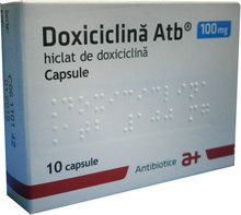 Doxiciclina Atb 100mg 10 capsule Capsule, Medical, Active Ingredient