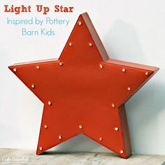 Hometalk :: Pottery Barn Inspired Light Up Star Wall Decor Pottery Barn Inspired, Pottery Barn Kids, Outer Space Crafts, Tin Can Lanterns, Wall Art Crafts, Decor Crafts, Concrete Candle Holders, Kids Inspire, Stars Craft