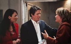 Emma Thompson and Hugh Grant in: 'Love Actually.' Then in they played a brother-sister pair in 'Love Actually. Movie Photo, Movie Tv, Drame Romantique, Love Actually 2003, Christmas Movies List, Richard Curtis, Are You Not Entertained, Hugh Grant, Emma Thompson