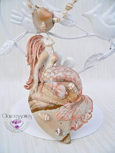Mermaid pendant-Mermaid necklace-Polymer clay by claycessories