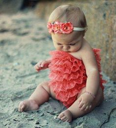 Gourgeous coral baby dress