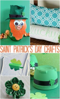Saint Patrick's Day - The Country Chic Cottage-By Angie Holden Projects to celebrate Saint Patrick's Day in style!