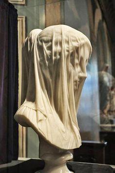 Eternal...'The Veiled Virgin' by Giovanni Strazza, 1856.