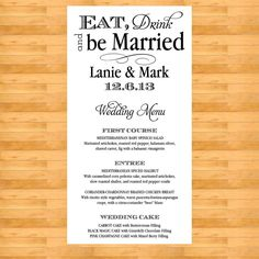 Beach Wedding Menu Ideas