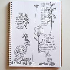"""gardeners who make our souls blossom"" | sneak peek of Lisa Congdon's sketchbook via Design Sponge"
