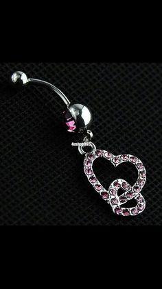 Heart Bellybutton Ring