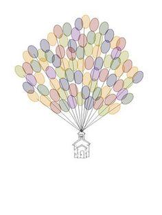 Teacher end of year class gift idea.  DIY Thumbprint Balloons - FREEBIE school house image