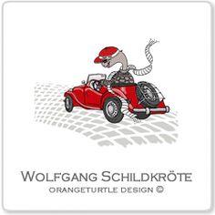 Schildkröte Wolfgang im Cabrio
