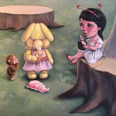 Oh the horror. Nz Art, Pop Surrealism, Art Day, Insta Art, Horror, Park, Painting, Beautiful, Painting Art
