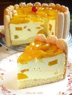 » Sarlota cu piersiciCulorile din Farfurie Jacque Pepin, Mcdonalds, Vanilla Cake, Cheesecake, Sweets, Ethnic Recipes, Desserts, Food, Cook