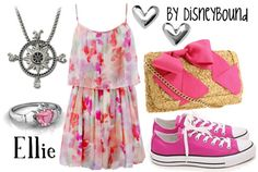 Ellie- Disneybound  ditch the converse for crochet wedges & we've got ourselves a winner! ~katie