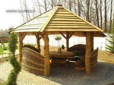 Foisor construit din busteni Gazebo, Bali, Porch, Outdoor Structures, House, Type 3, Garden Ideas, Outdoors, Facebook