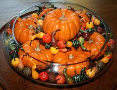 Preschool Crafts for Kids*: Thanksgiving Pumpkin Centerpiece Craft